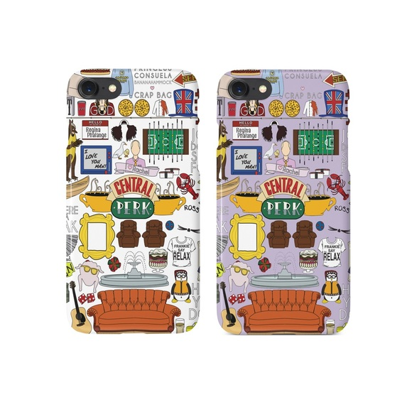 new arrival 6bb8e b9f17 Friends TV Show Central Perk Collage iPhone Case NWT